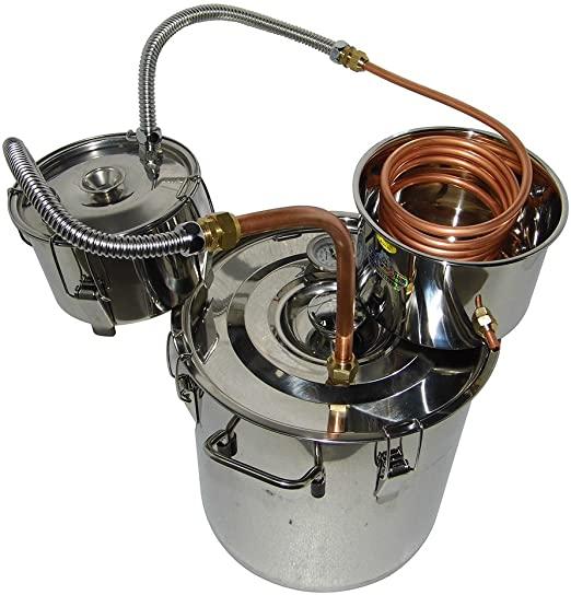 OLizee 8 Gal Stainless Steel Alcohol Distiller Moonshine Stills for Sale